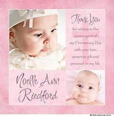 thank you card template for baptism modern baptism thank you card two photo pink baby