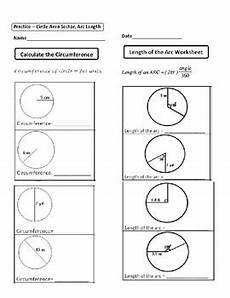 geometry worksheets area of sectors 843 geometry unit 10 circle area circumference sector area arc length worksheet