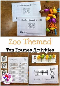probability worksheets 5798 zoo themed ten frame printables no prep on 168 pages of printables working on ten