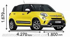 Dimensions Of Fiat Cars Showing Length Width And Height