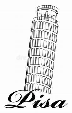 pisa lettere leaning tower of pisa stock illustration illustration of