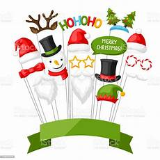 merry christmas photo booth props stock illustration download image now istock
