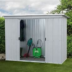 7 5 Quot X 3 5 Quot Pent Metal Shed Free Anchor Kit 2 24m X 1
