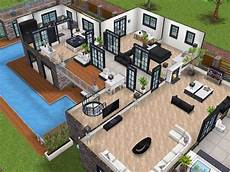 sims freeplay house plans remodeled two story mansion sims freeplay house design