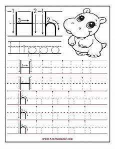 montessori letter tracing worksheets 23916 printable letter h tracing worksheets for preschool preschool writing alphabet preschool