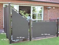 sichtschutz für terrassen leco komplette design sichtschutzwand professionell