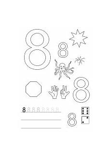 Malvorlagen Vorschule Regeln Arbeitsblatt Zahl Nummer 8 Mit Bildern Zahlenland