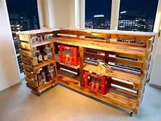 kellerbar bauen bar aus paletten cool hausbar selber theke