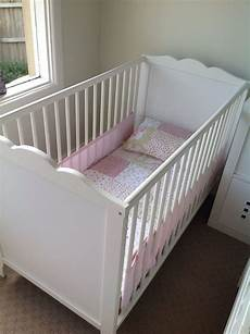 ikea hensvik white cot mattress air mesh bumper fitted