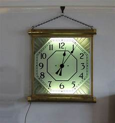 1930 s brass illuminated cinema clock made in england by