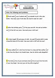 grade 4 maths resources 2 8 fraction word problems printable worksheets lets share knowledge