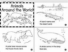 animal world worksheets 14372 animals around the world printable mini books