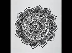 How To Draw A Mandala Design Mandala Flower Pattern
