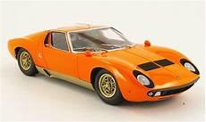 lamborghini miura p400 s orange kyosho modellauto 1 18