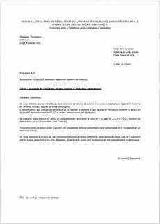 lettre de résiliation contrat d assurance exemples gratuits de lettre de r 233 siliation d assurance r 233 assurez moi