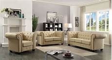 Tufted Living Room Furniture g492 tufted living room set beige by furniture