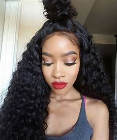 deep curly 200 density lace closure wigs most favorable