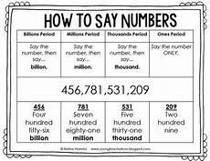 building number sense freebie teaching math fifth grade math fourth grade math