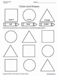 colors and shapes worksheet from tlsbooks shape worksheets for preschool shapes