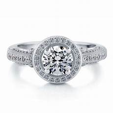 silver halo milgrain engagement ring made with swarovski zirconia 1 51 ct ebay