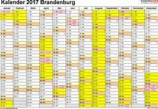 Kalender 2017 Brandenburg Ferien Feiertage Excel Vorlagen