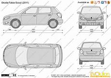 The Blueprints Vector Drawing Skoda Fabia Scout