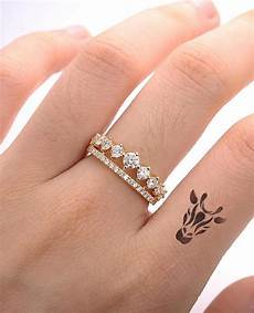 unique cluster engagement ring forever one moissanite crown double wedding band women bridal