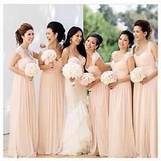 Simple Wedding Entourage Dresses