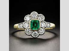 Emerald and Diamond Vintage Style Ring   Vintage