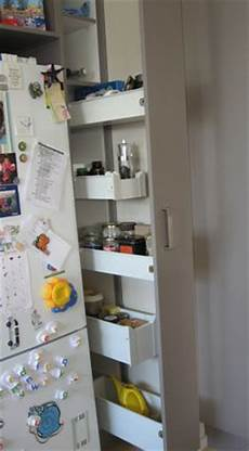 Kitchen Pantry Storage Nz by 1000 Images About Narrow Cupboards On Fridge