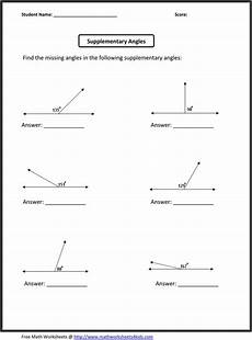 algebra worksheets with answers grade 6 8316 supplementary angles math worksheets free math worksheets printable math worksheets
