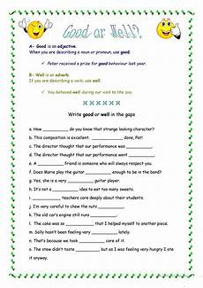 good or well worksheet free esl printable worksheets