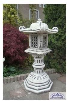 bastelideen für gartendeko bd 2121 steinlaterne stupa japanlaterne als gartendeko f 252 r japanischen garten 95cm 109kg