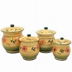 sunflower canisters for kitchen sunflower kitchen canisters ebay