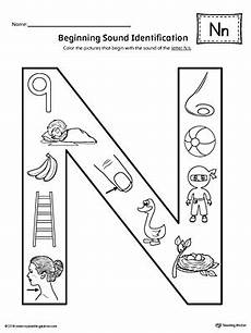 letter n phonics worksheets 24159 letter n beginning sound color pictures worksheet myteachingstation