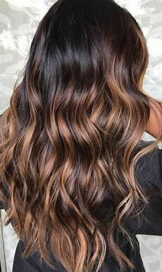 couleur caramel cheveux brun balayage miel sur brune cheveux tr 232 s fonc 233 s avec des