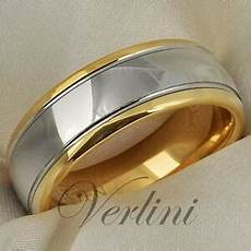 8mm dome 14k gold mens tungsten ring wedding band bridal jewelry size 6 13 ebay tungsten mens ring 14k gold wedding band 8mm top bridal polished rings jewelry