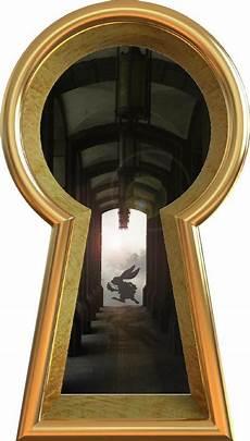 in wonderland keyhole wall decal white rabbit