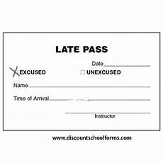 by discount school forms late pass names prints chart