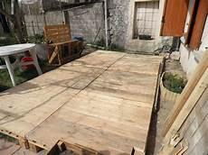 construire une terrasse en palette terrasse en palette photo de le bricolage notre vie