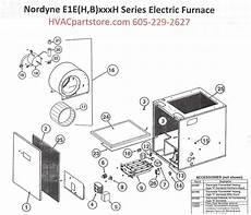 home furnace diagram hvac e1eh017h nordyne electric furnace parts hvacpartstore