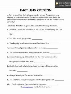 fact and opinion worksheets for students edgalaxy cool stuff for nerdy teachers