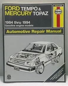 old cars and repair manuals free 1986 ford bronco ii regenerative braking haynes repair manual ford tempo mercury topaz 1984 1989 1985 1986 1987 1988 ebay ford