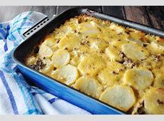 cheesy hamburger   potato casserole_image