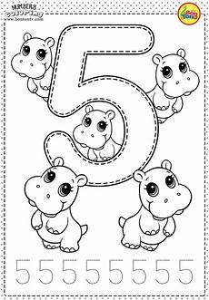 number 5 preschool printables free worksheets and coloring pages for kids learning numbers