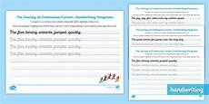 continuous cursive handwriting worksheets uk 21609 continuous cursive pangram worksheets