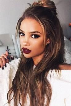 2019 latest dark brown long hairstyles