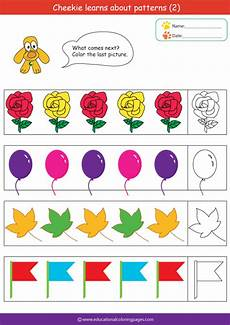 color patterns worksheets 53 187 patterns2 free educational coloring pages