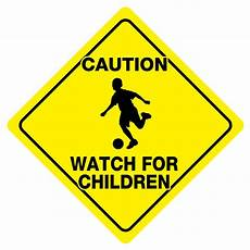 caution for children sign play safety