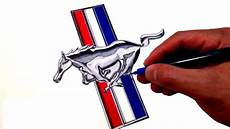 logo ford mustang how to draw the ford mustang logo